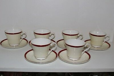 "6 Royal Grafton Fine Bone China ""summer Wine"" Cup & Saucer Sets-England"