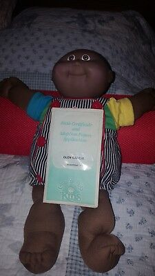Vintage Cabbage Patch Kids Black African American Boy Doll