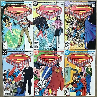 Lot Of 6 The Man Of Steel Comics (Dc,1986) #1-6 Copper Age ~