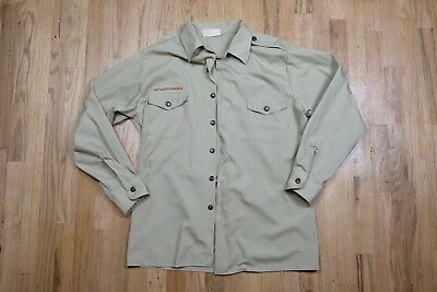 Boy Scouts Of America BSA Adult Mens Long Sleeve Shirt Vintage Large USA c1292
