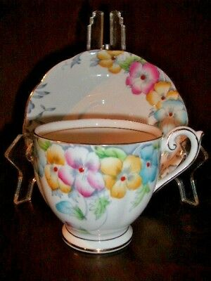 Hand Painted Bell Vintage Cup & Saucer Bone China England