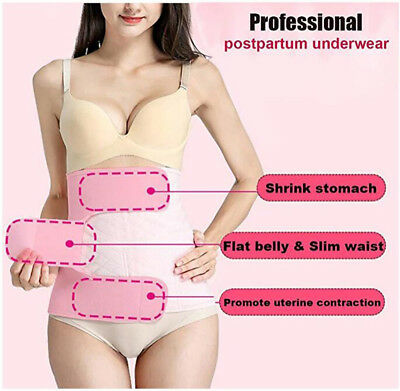 US Postpartum Belly Wrap Support Recovery Belt Shaper C Section Girdle Shapewear