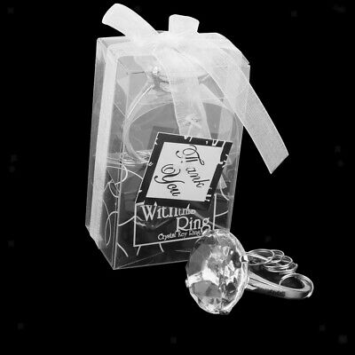 Clear Diamond Crystal Napkin Ring Ring Key Chain Bride Wedding Favor New & Boxed