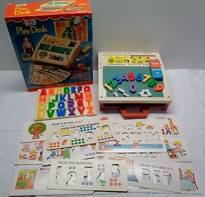Vintage Original 1972 Fisher Price School Days Portable Play Desk #176 WITH Box