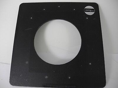 ARCA SWISS LENS BOARD 6 3/4X 6 3/4 HOLE IN CENTER 3 1/2 IN NICE USABLE board