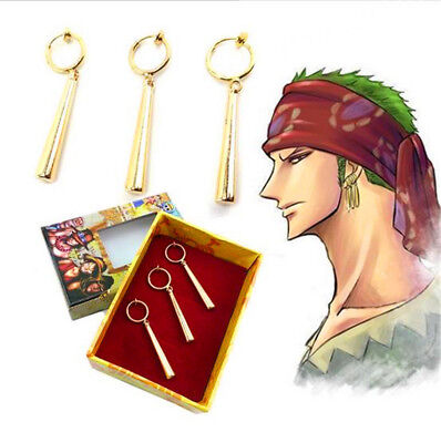 One Piece Roronoa Zoro Ear Clip Earrings Metal Pendant  Collection Gifts