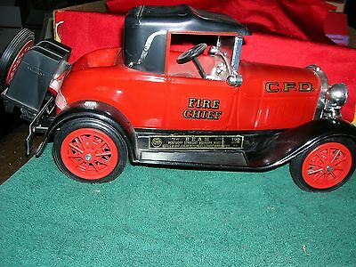Vintage Jim Beam Kentucky Bourbon 1928-29 Ford Model A Fire Chief Car & PHAETOM