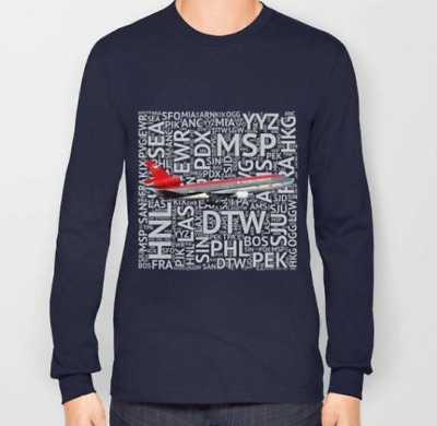 Northwest DC-10 with Airport Codes - T-Shirt (Unisex)