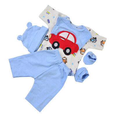 Lovely Jumpsuit Bib Clothes Casual Outfit Blue for 22-23inch Reborn Boy Doll