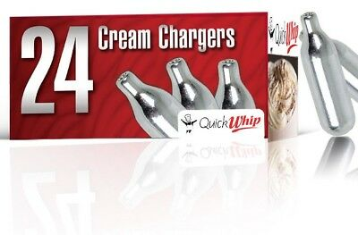 48 QUICK Whip Cream Charger 8g Pure Whipped    2 boxes of 24 Quick