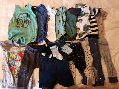 Bulk Lot Baby Boy Clothes Size 1 - 18 pieces