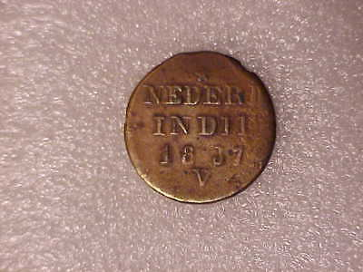 1837 V, Netherlands East Indies - Island of Sumatra, 1 Cent Coin