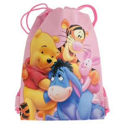 A Durable nylon sack with fun Winnie the Pooh Cinch Backpack Perfect for school