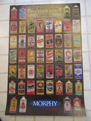 """9612 ~ 2 MORPHY AUCTION SALE POSTERS 2012 """"Breweriana"""" & 2013 """"SAFE"""" Collections"""