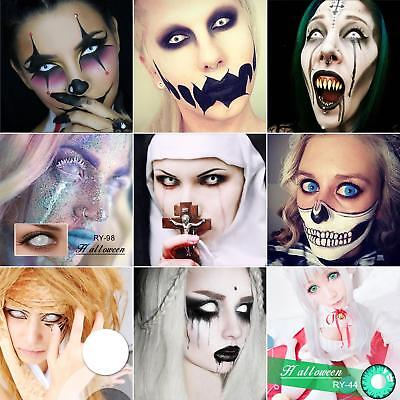 1 Pair Halloween Eyes Cosplay Big Comfort Unisex Coloured Contact Lenses Místico