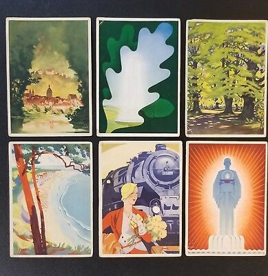 Vintage POSTCARDS BERLIN GERMANY Lot Of 6 Reproduced From GERMAN TRAVEL POSTERS