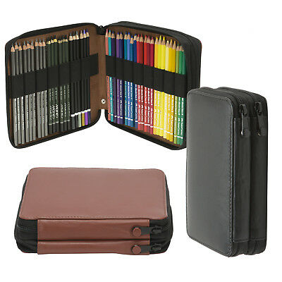Creative Mark Genuine Leather Artist Pencil Cases 4 Sizes 2 Colors Storage
