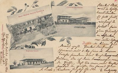 Gold Coast: Post card Accra 1901 to Germany/Reutlingen
