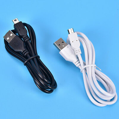 1m Long MINI USB Cable Sync & Charge Lead Type A to 5 Pin B Phone Charger ZB