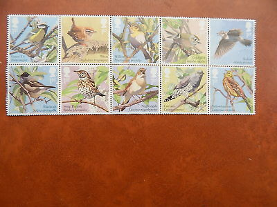 gb stamps sg 3948-3957.  Songbirds.