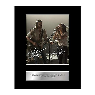 Bradley Cooper and Lady Gaga Signed Mounted Photo Display A Star is Born