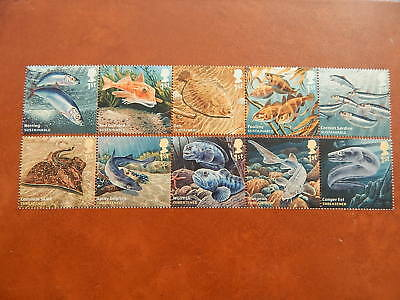 gb stamps sg 3609-3618.Sustainable Fish and Threatened Fish.