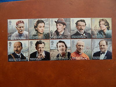 gb stamps sg 3453-3462.  Great Britons.