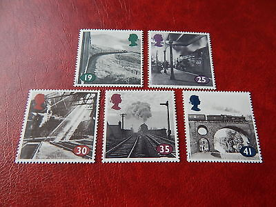 gb stamps s g 1795-1799. The Age of Steam. Railway..