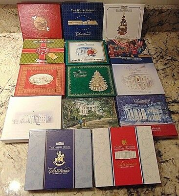 Lot of (14) The  White House Historical Association Christmas Ornaments