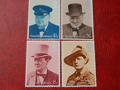 gb stamps s g 962-965. Birth Centenary of Sir Winston Churchill.