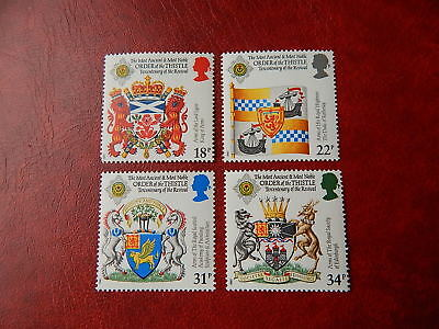 gb stamps s g 1363-1366.300th.Anniversary of Revival of Order of the Thistle.