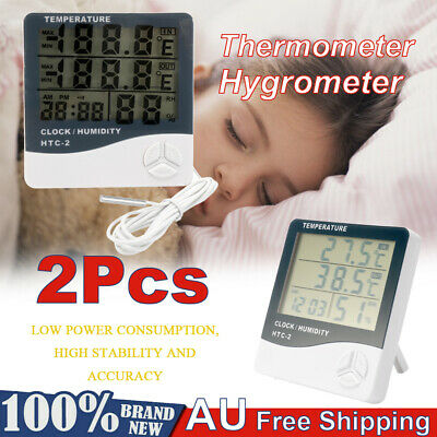 LCD Digital Wireless Indoor/Outdoor Thermometer Hygrometer ℃/℉ Temperature Y9V3