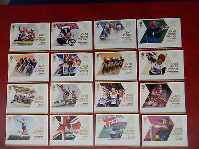 gb stamps s g3342-3370.British Gold Medal Winners at London Olympic Games.2scans