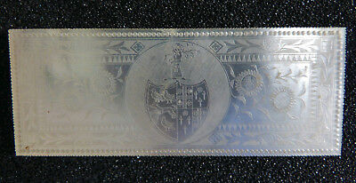 Armorial Monogram Antique Chinese Mother Of Pearl Gaming Chip