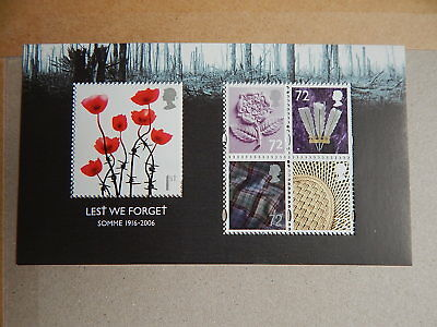 gb stamps  m s 2685. Lest We Forget.