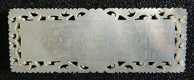 Antique Chinese Mother Of Pearl Gaming Chip