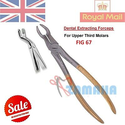 TOOTH EXTRACTING FORCEPS DENTAL UPPER THIRD MOLAR / WISDOM EXTRACTION FIG 67 Gol