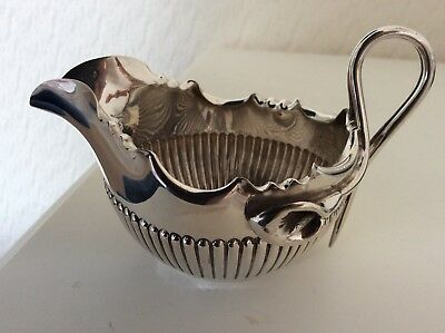 Solid Silver Cream/ Milk Jug James Dixon Sheffield 1898