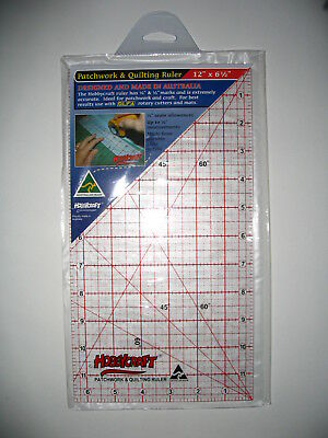 """Patchwork & Quilting ruler 12""""x6.5"""" Hobbycraft Proudly Australian Made"""