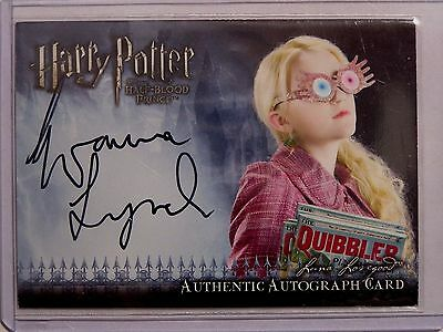 Harry Potter-HBP-Authentic-Signature-Autograph Card-Evanna Lynch-Luna Lovegood