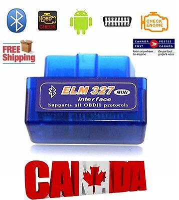 ELM327 OBD2 OBDII Android Bluetooth Adapter Car Scanner Torque Check Engine