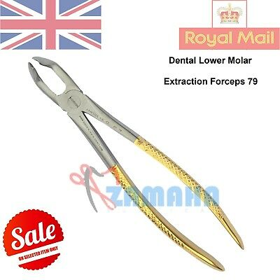 Tooth extracting forceps dental lower molar extraction instruments fig 79 CE