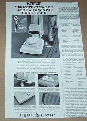 1964 print ad - General Electric vacuum cleaners GE home care Bridgeport CT