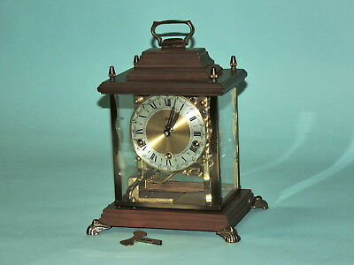 "Beautiful German Bracket Clock ""August SCHATZ"",Germany Triple Chime, Mid Century"