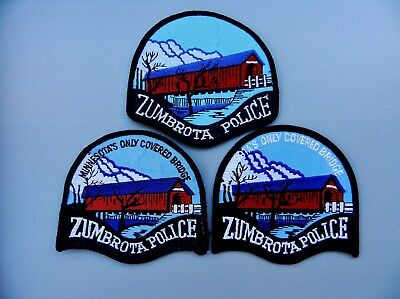 3 Variations of the Zumbrota Police (MN) Patch (Covered Bridge)