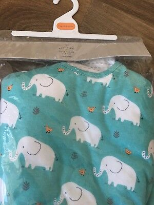 NEW John Lewis Baby 18-36 Months Sleeping Bag 1 Tog; Green /White Elephant Print