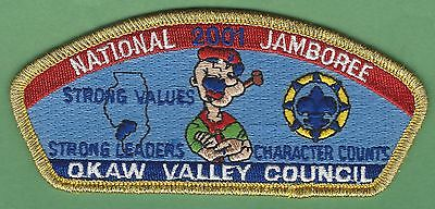 Okaw Valley Council 116 Illinois 2001 National Jamboree Boy Scout Csp Patch S15