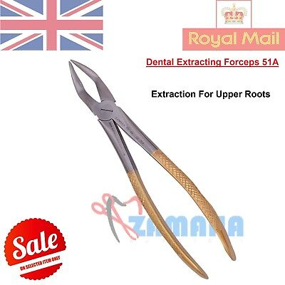 Tooth Extracting Forceps 51A Upper Roots Extraction Dental Instruments CE - GOLD