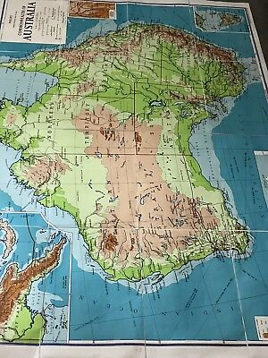 Phillips Large Map of Australia Scale: 1:3,000,000 (50 miles to 1 inch) 1967