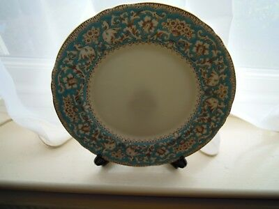 CROWN STAFFORDSHIRE 'ELLESMERE' TURQUOISE DINNER PLATE NEW&UNUSED 1st QUALITY